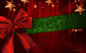 Red Green Christmas Background ...