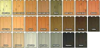 Exterior Wood Stains Color Chart Mceachern Co
