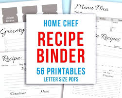Recipe Binder Templates Printable Recipe Binder Kit Personalized Family Pages