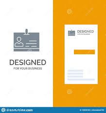 Id Card Identity Badge Grey Logo Design And Business Card