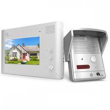 1byone 7-Inch Wired Video Intercom Doorbell, 1 Camera & 1 ...