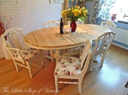 haversham pine dining table and 6 upholstered chairs. beautiful solid pine ducal table \u0026 6 chairs painted in annie sloan old white. shabby haversham dining and upholstered