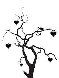 hearts silhouette tree w hearts silhouette by viktoria lyn on deviantart