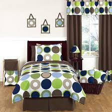 brown bedding sets queen blue green brown modern dots boy kids teen full queen sized bedding