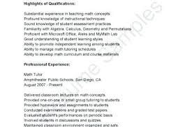 Math Tutor Resume Math Tutor Resume Sample Mathematics Teacher Math ...