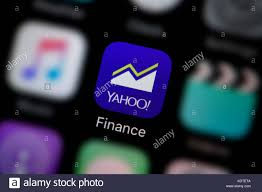 yahoo finance icon. Perfect Finance A Closeup Shot Of The Logo Representing Yahoo Finance App Icon As Inside Icon