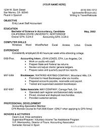 Accounting Resume Accounting Resume Sample