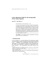 pdf lattice boltzmann model for the incompressible navier stokes equation