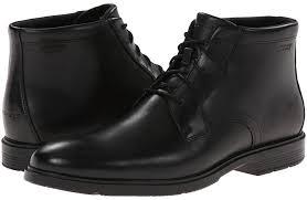 black leather dress boots rockport city smart waterproof dress chukka boot boots