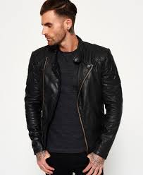 superdry endurance indy leather jacket thumbnail 1