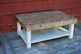 furniture: Fascinating White And Natural Color Of Wooden Pallet Funiture  Which Is Designed Using Simple