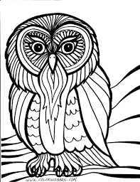 Best Owl Coloring Pages For Adults Free Printable Com Endear Hard