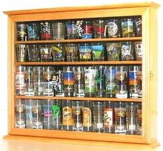 shot glass display case tall shot glass display case cabinet shooters holder wall shadow box oak shot glass display case