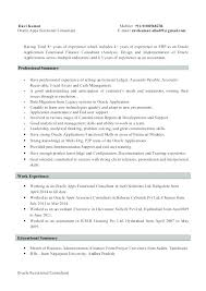 Financial Sales Consultant Sample Resume Impressive Resume Functional Format Oracle Financial Functional Consultant