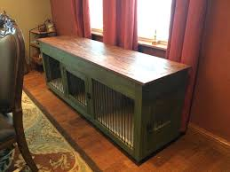 dog crates as furniture. Double Dog Crate Furniture Console Diy Crates As