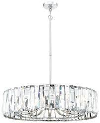 crystal drum chandelier metropolitan light wide with clear glass chrome cassiel round black