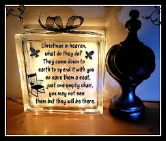 in heaven glass block night light memorial block gift sympathy gift glass block 8 x 8 holiday gift