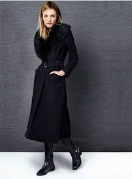j by jasper conran faux fur crepe coat