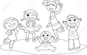 Coloriage D Enfants Affordable Alors Imprime Ce Coloriage De