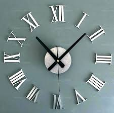 oversized mirror wall clock outstanding large modern wall clocks large modern clock modern design mirror wall