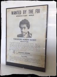 Criminal Wanted Poster Gorgeous Ted Bundy Wanted Poster Aged Reproduction In Clip Frame Etsy