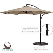 cobana 10 ft patio umbrella offset hanging umbrella outdoor umbrella garden umbrella 75 5 x 13 x 7 3 8 5 check coolaroo round cantilever