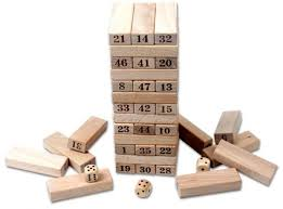 Game With Wooden Blocks Wood building blocks stacker game price review and buy in Dubai 62