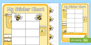 Bee Behaviour Chart Bee Themed Sticker Reward Charts Signs And Labels Bees