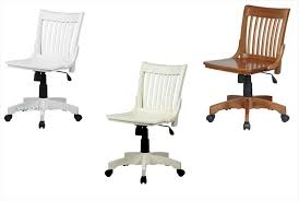white wooden swivel desk chair looking for lacquered finish mission style armless banker wood swivel