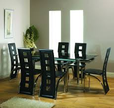 glass top dining table set india with