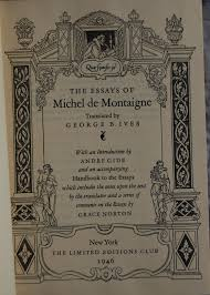 limited editions club the essays of montaigne the title