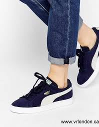 puma shoes suede womens. nux09002211 puma 2017 shoes | women\u0027s - classic suede navy peacoat sneakers womens a