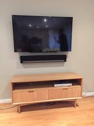 sony tv wall mount. sony television and sonos playbar wall mounting sydney tv mount