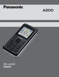 Panasonic A200 Part 2 Users Manual