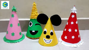 How To Make Birthday Cap With Paper I Santa Claus Hat I Birthday Caps Making Birthday Cap