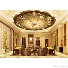 Modern Wallpaper For Living Room Modern Wallpaper For Living Room Golden Ceiling Fashion Decor Home