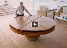 expanding round table. The Fletcher Capstan Table Expands From A 6.5 Or 10-foot To One That Measures Between 20 And 30 Feet Across | Inventos Pinterest Expanding Round T
