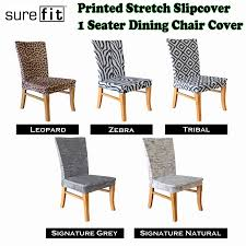 printed stretch slipcover 1 seater dining chair covers choose your and sure brilliant dining chair covers sure fit s room