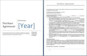 Ms Word Purchase Agreement Form Template Word Excel