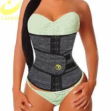 <b>LAZAWG Women Waist Trainer</b> Neoprene Belt Weight Loss Cincher ...