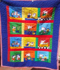 Baby cot quilt delightful Australian animals by TwinkleLittleTots ... & SALE Baby Cot Quilt unisex Maisie Mouse bright primary colours machine sewn  and quilted. Adamdwight.com
