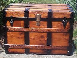 red victorian all wood flat top antique trunks for 738