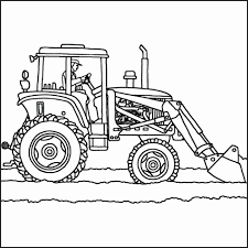 Coloring Pages Tractors Tractor Coloring Page Kleurplaten Printable