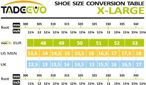 Extra Large Size Chart Sizing Chart
