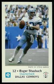 1979 Cowboys Vintage Roger Police Staubach Gallery Football Card - 13