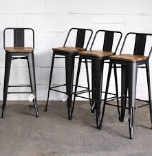 4 Brand New Industrial Bar Stools With Backs