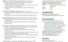 Stagehand Resume Examples Resume For College Student Example Within Current Marketing Mba 58
