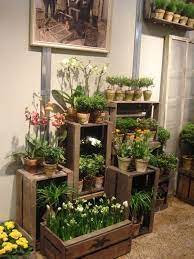 diy wooden crate for balcony garden