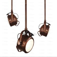 designer brown track lighting country