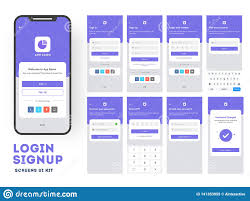 Design Of Screen Mobile App Ui Or Ux Design With Different Login Screen